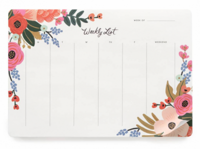 Lively Floral Weekly Desk Pad - VE 6