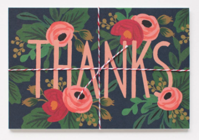 Rosa Thanks Postcards Rifle Paper Co