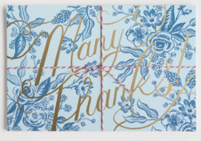 Toile Thank You Postcards Rifle Paper