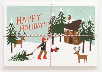 Happy Holidays Postcards Rifle Paper Co