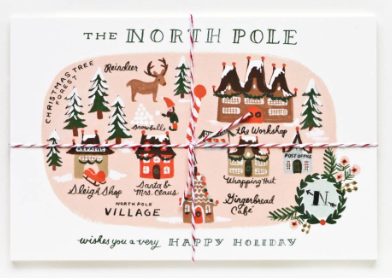North Pole Map Postcards Rifle Paper