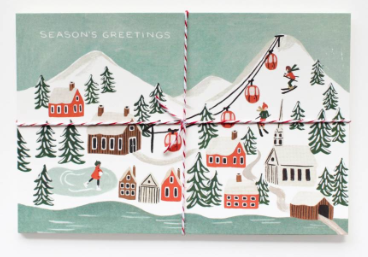 Holiday Snow Scene Postcards Rifle Paper