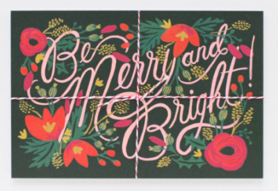 Be Merry Bright Postcards Rifle Paper