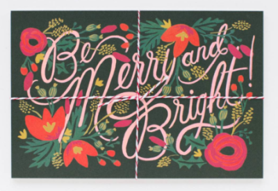 Be Merry & Bright Postcards - Rifle Paper Co.