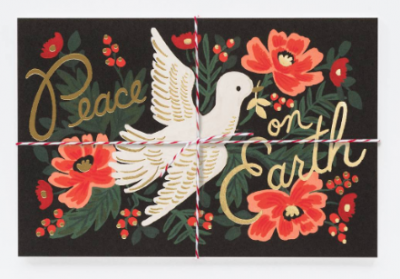 Peace on Earth Postcards Rifle Paper