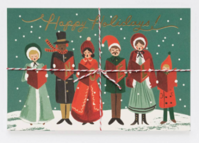 Carolers Christmas Postcards Rifle Paper Co