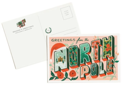 Greetings from the North Pole Postcards - Rifle Paper Co.