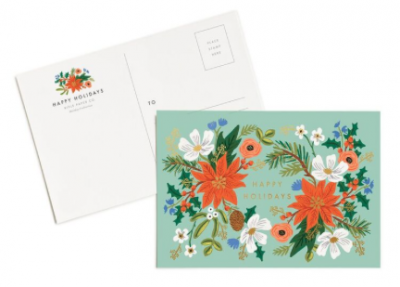 Holiday Floral Postcards Rifle Paper Co