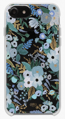 Clear Garden Party Blue iPhone Cases