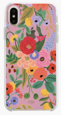 Clear Blush Garden Party iPhone Cases