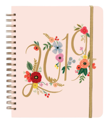 2019 Bouquet Large Spiral Planner - Rifle Paper Co. Planner