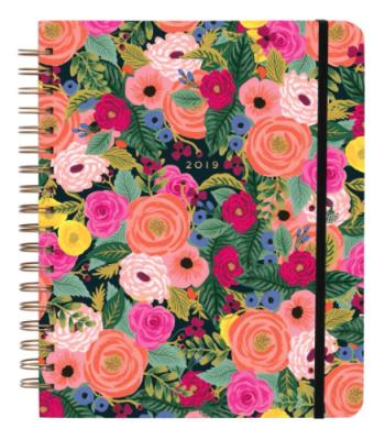 2019 Juliet Rose Large Spiral Planner - Rifle Paper Co. Planner