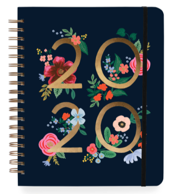 2020 Wild Rose Large Spiral Planner - Rifle Paper Co. Planner