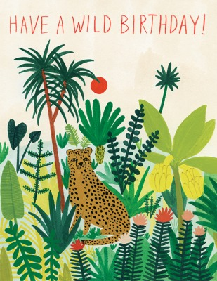 Cheetah Birthday Card Red Cap Cards