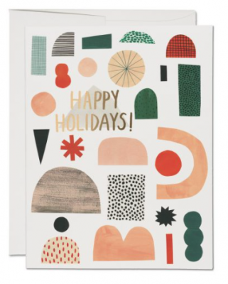Xmas Shapes Card - Red Cap Cards