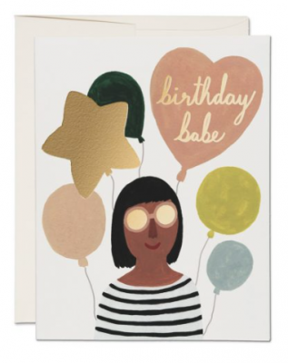 Birthday Babe Card - Red Cap Cards