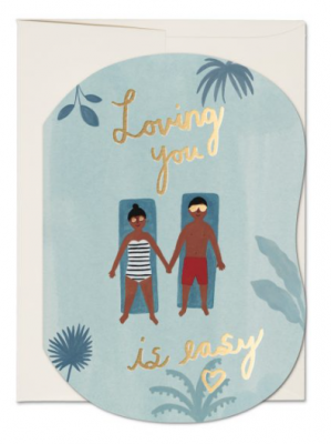 Loving You is Easy Card - Red Cap Cards