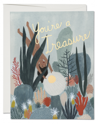 Youre Treasure Card Red Cap Cards