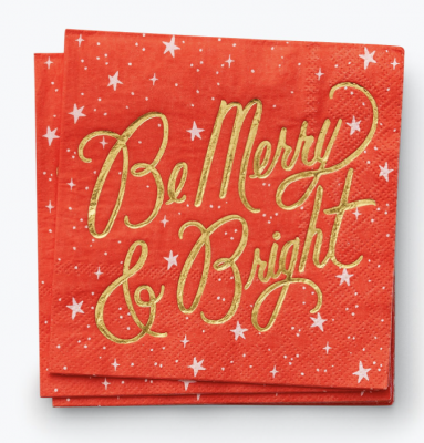 Be Marry and Bright Cocktail Napkins