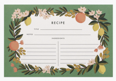 Citrus Floral Recipe Cards - Rezeptkarten