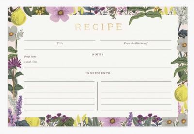 Herb Garden Recipe Cards - Rezeptkarten
