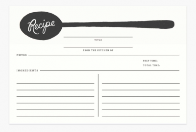 Charcoal Spoon Recipe Cards - Rezeptkarten