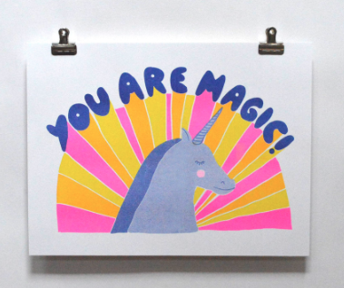 You Are Magic Print Yellow Owl