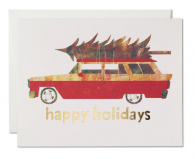 Holiday Chevy Card Red Cap Cards