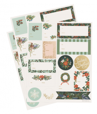 Winter Floral Sticker Set Holiday Sticker