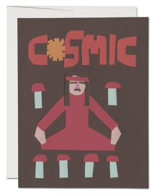 Meditate Card - Red Cap Cards