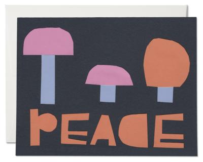 Peace Mushrooms Card Red Cap Cards
