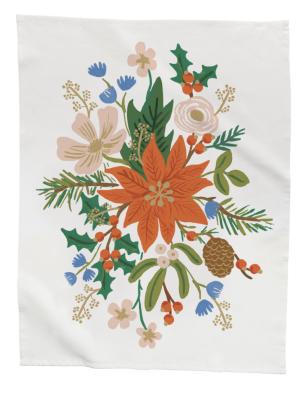 Holiday Bouquet Tea Towel - Geschirrtuch