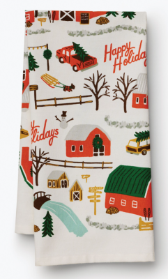 Christmas Tree Farm Tea Towel Geschirrtuch