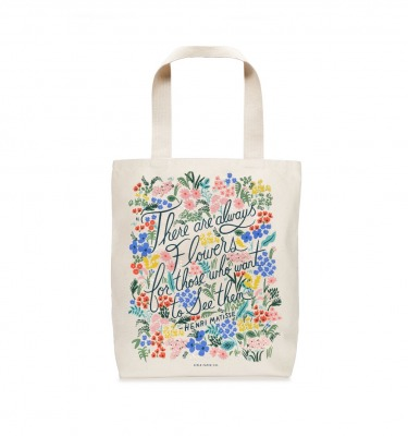 Seeing Flowers Tote Bag Rifle Paper