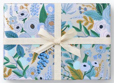Garden Party Blue Wrap Geschenkpapier Rolle