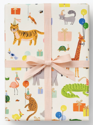 Party Animals Continuous Wrap Geschenkpapier Rolle