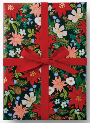 Poinsettia Wrap - Geschenkpapier Rolle