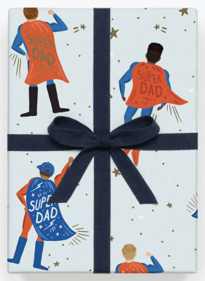 SuperDad Wrap - Geschenkpapier Bögen