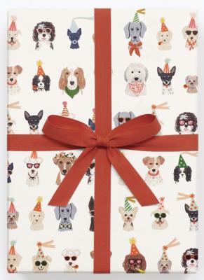 Party Pups Wrap - Geschenkpapier