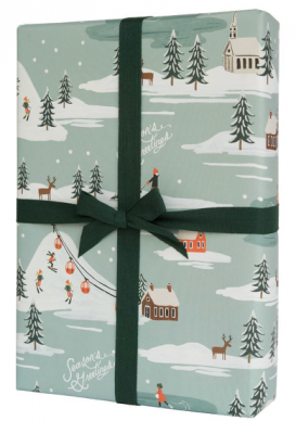 Holiday Snow Scene Wrap - VE 12